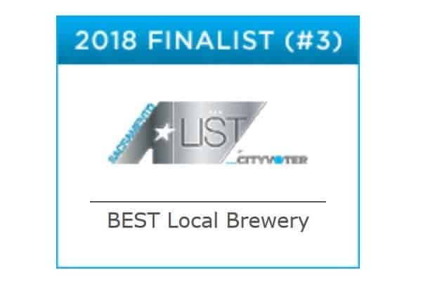 2018 Finalist for BEST Local Brewery