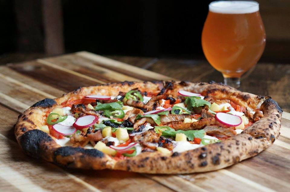 Pizza and Beer at Goathouse Brewing