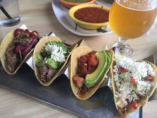 Tacos and beer at Goathouse Brewing