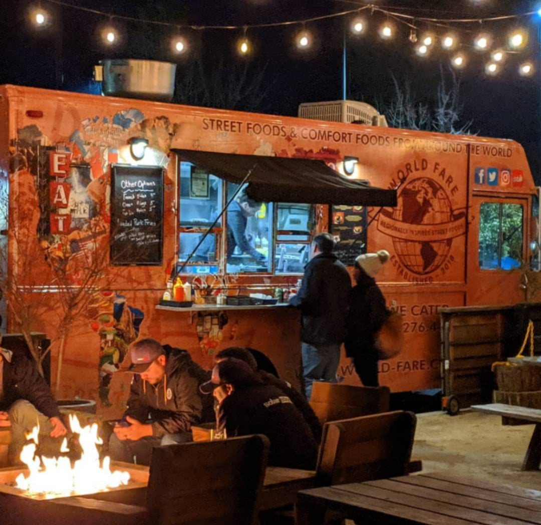 Food truck at Goathouse Brewing